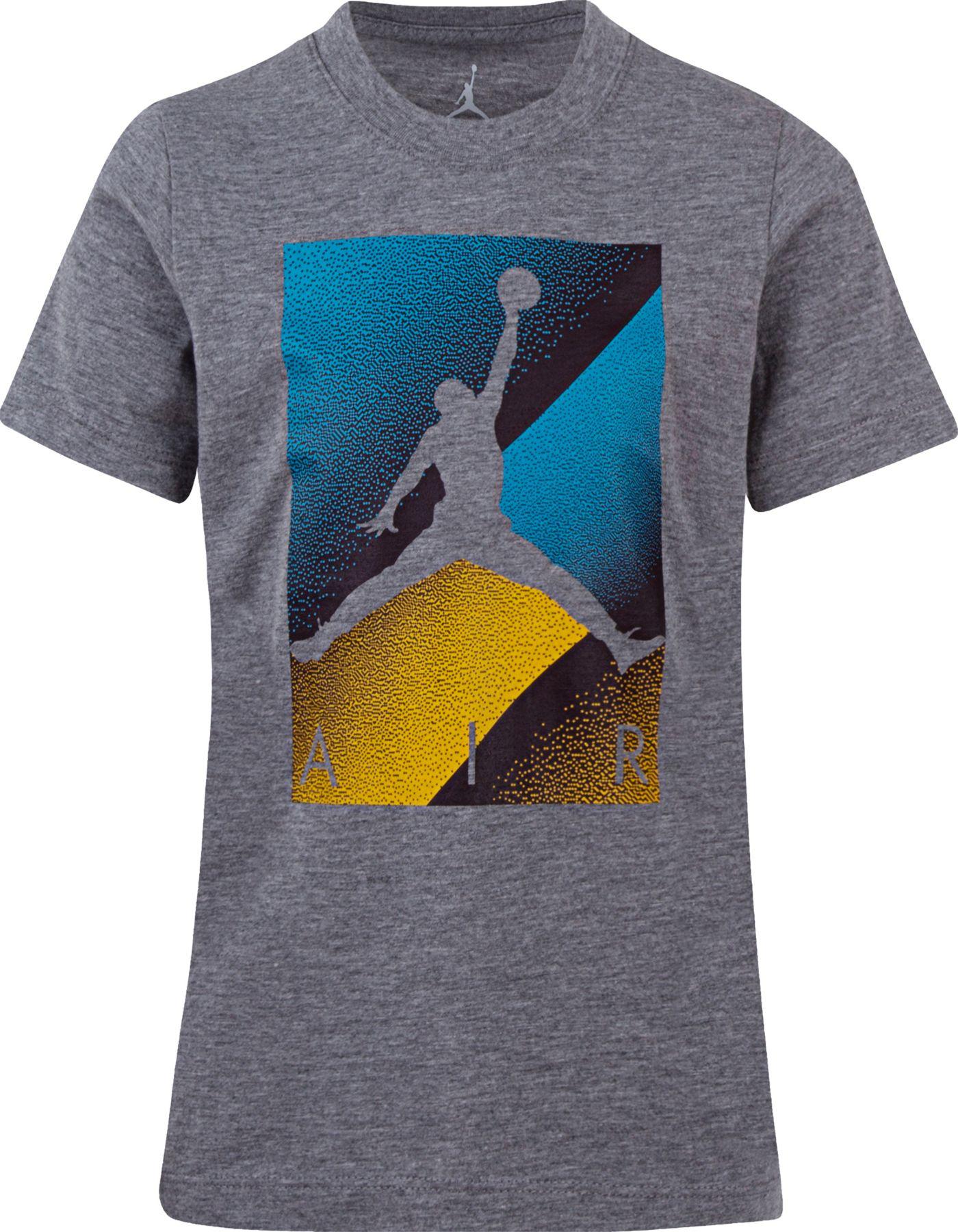 Jordan Boys' Air Colorblock Box Logo Graphic T-Shirt