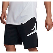 Jordan Men's Jumpman Logo Fleece Basketball Shorts in Black/White