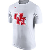 Jordan Men's Houston Cougars Bench White T-Shirt