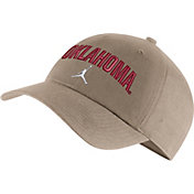 Jordan Men's Oklahoma Sooners Tan Heritage86 Arch Wordmark Hat