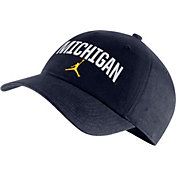 Jordan Men's Michigan Wolverines Blue Heritage86 Arch Wordmark Hat