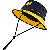 Jordan Men's Michigan Wolverines Blue Dri-FIT Sideline Bucket Hat