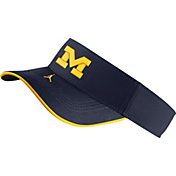 Jordan Men's Michigan Wolverines Blue Aero Football Sideline Visor
