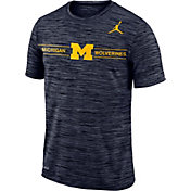 Jordan Men's Michigan Wolverines Blue Velocity Football T-Shirt