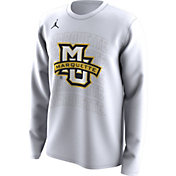 Jordan Men's Marquette Golden Eagles Bench Long Sleeve White T-Shirt