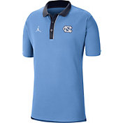 Jordan Men's North Carolina Tar Heels Carolina Blue Team Football Sideline Polo