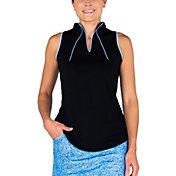 Jofit Women's Cutaway Notch Collar Sleeveless Golf Polo