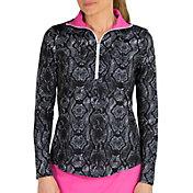 Jofit Women's Foldover Mock Long Sleeve Golf Shirt
