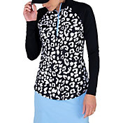 Jofit Women's Printed Rib Mock ¼ Zip Golf Pullover