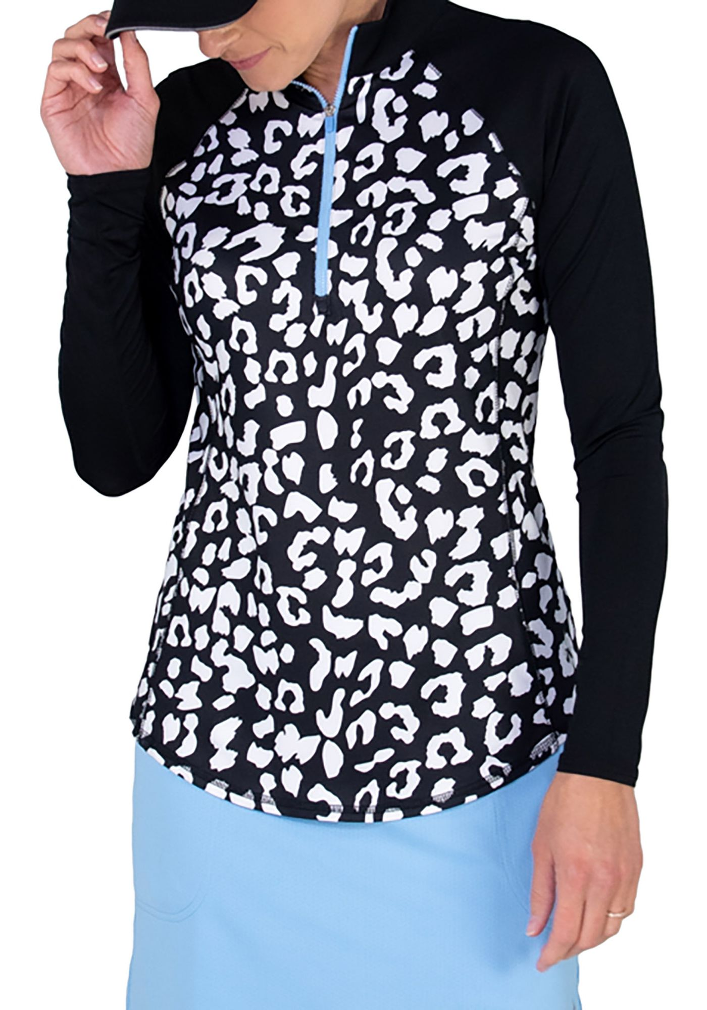 Jofit Women's Printed Rib Mock ¼ Zip Golf Pullover