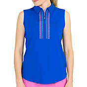 Jofit Women's Sleeveless Embroidered Golf Polo