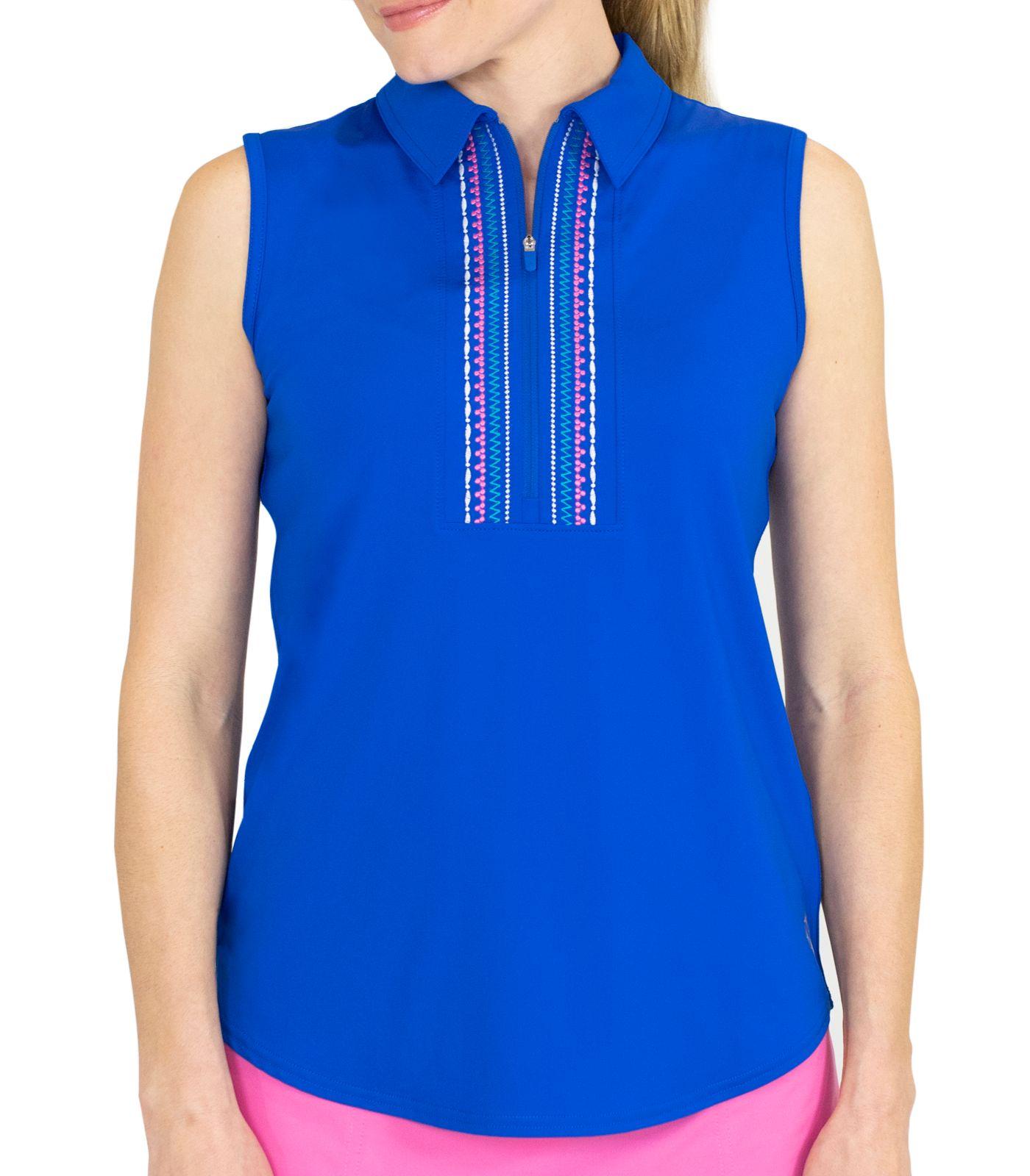Jofit Women's Sleeveless Embroidered Golf Polo