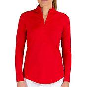 Jofit Women's Momentum Long Sleeve Mock Golf Polo