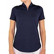 Jofit Women's Rib Mock Short Sleeve Golf Top