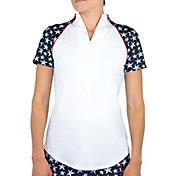 Jofit Women's Short Sleeve Vista Mock Neck Golf Polo