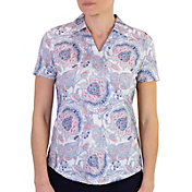 Jofit Women's Vera Dixie Print Short Sleeve Golf Polo