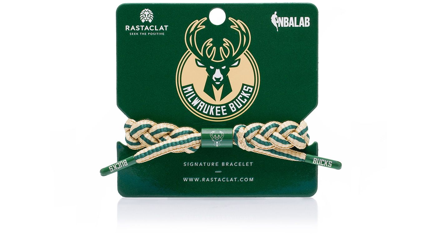 Rastaclat Milwaukee Bucks Home Braided Bracelet
