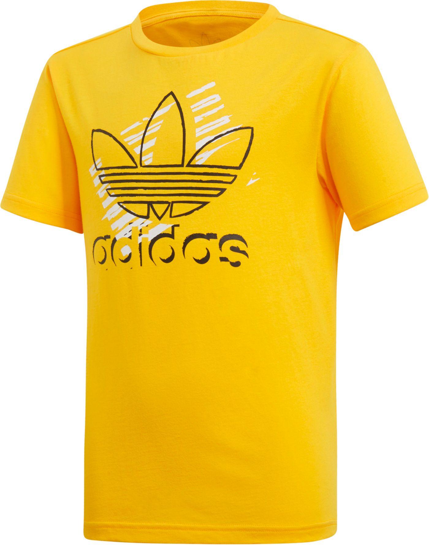 adidas Originals Boys' Trefoil Art Graphic T-Shirt