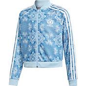 adidas Originals Girls' Culture Crash Cropped SST Track Jacket
