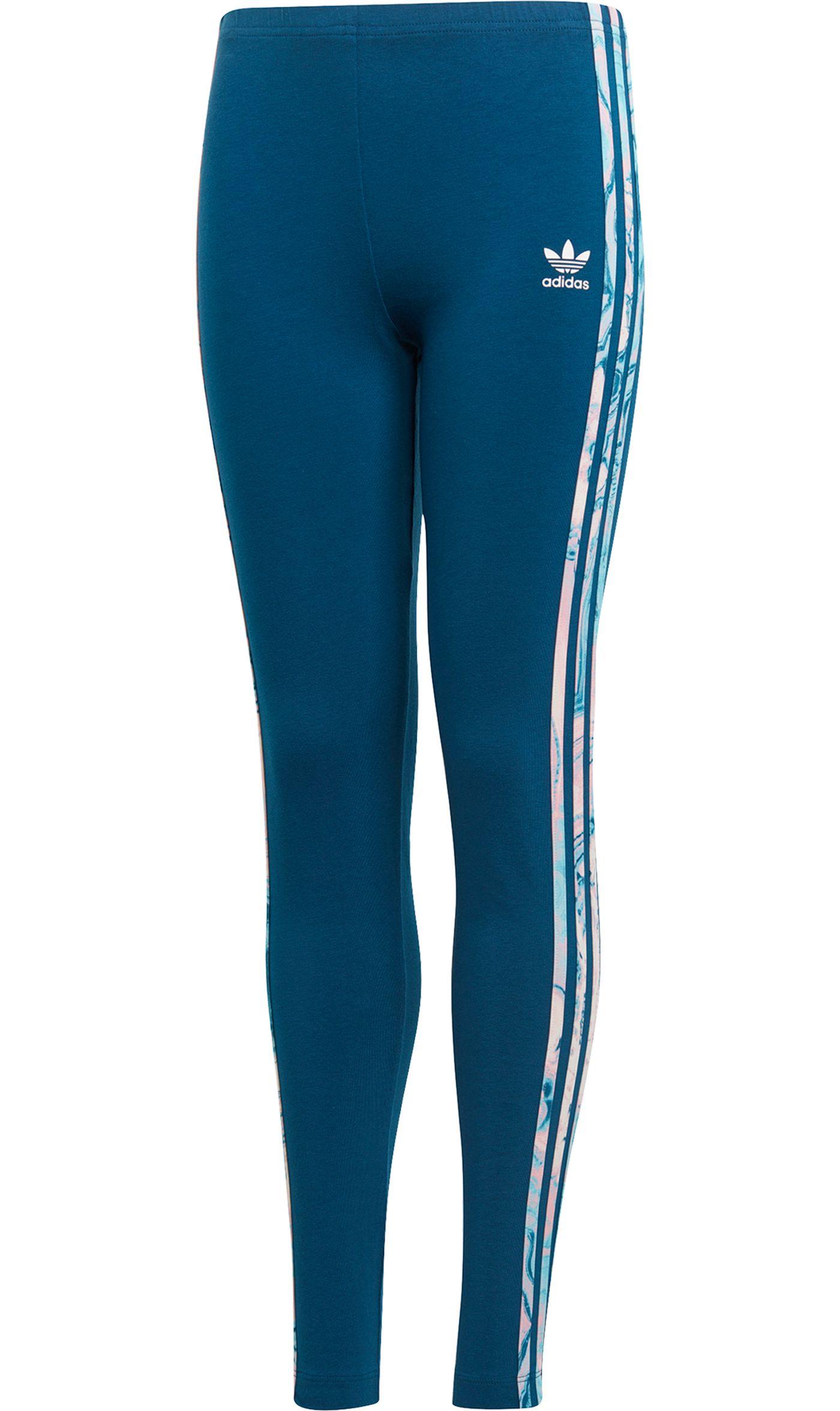 adidas Originals Girls' Marble Solid Leggings