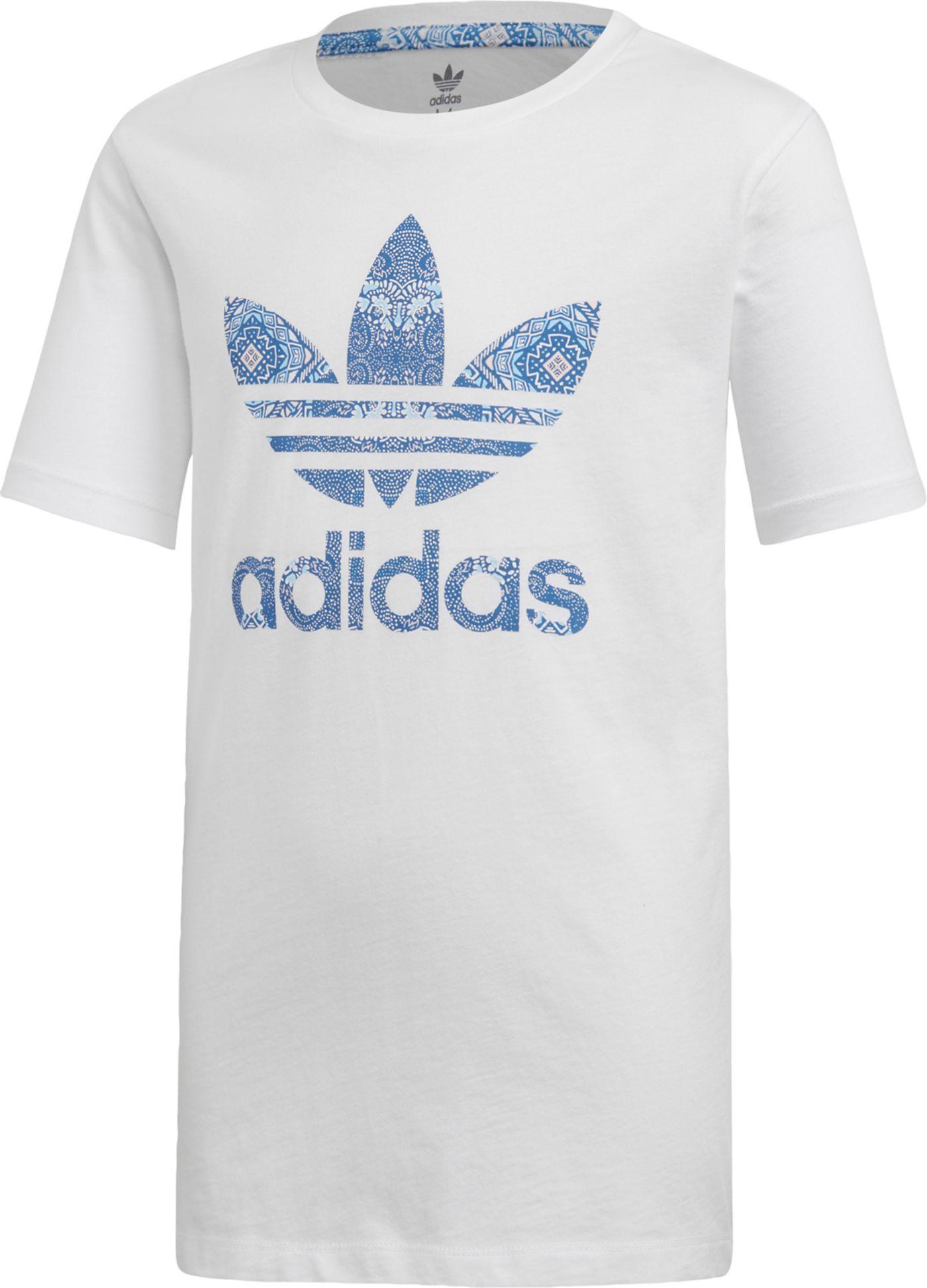 adidas Originals Girls' Culture Crash Trefoil Graphic T-Shirt