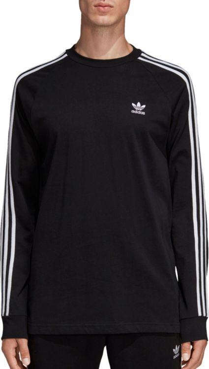 adidas Originals Men s 3-Stripes Long Sleeve Shirt  34223de5f7e