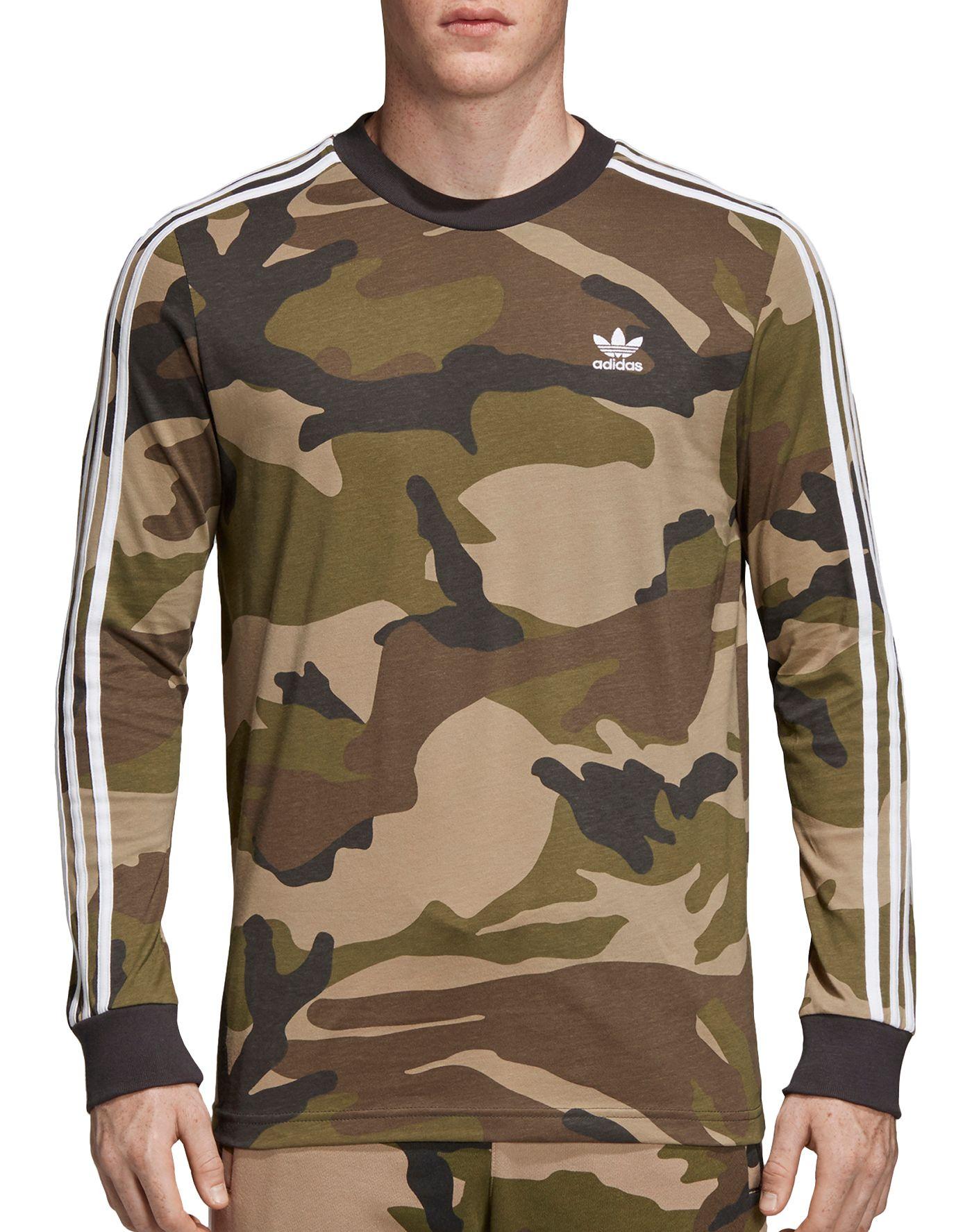 adidas Originals Men's Graphic Camouflage Long Sleeve Shirt