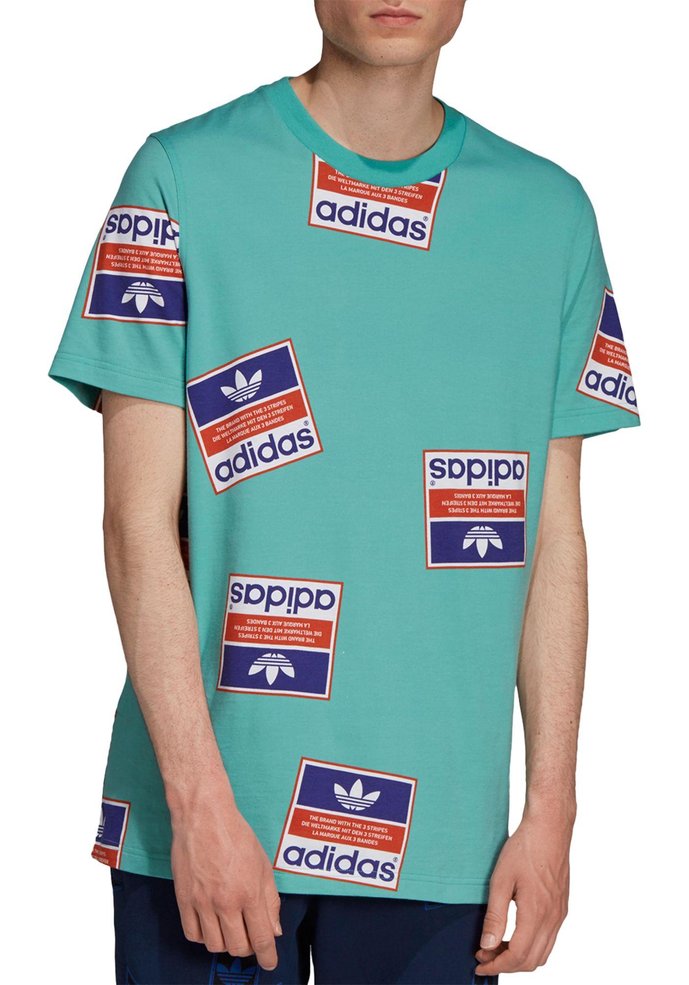 adidas Originals Men's Archive Sticker Graphic T-Shirt