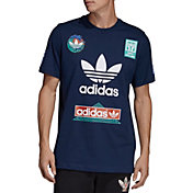adidas Originals Men's Race Sticker Graphic T-Shirt