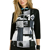 Jamie Sadock Women's Abstract Print ¾ Sleeve Golf Pullover