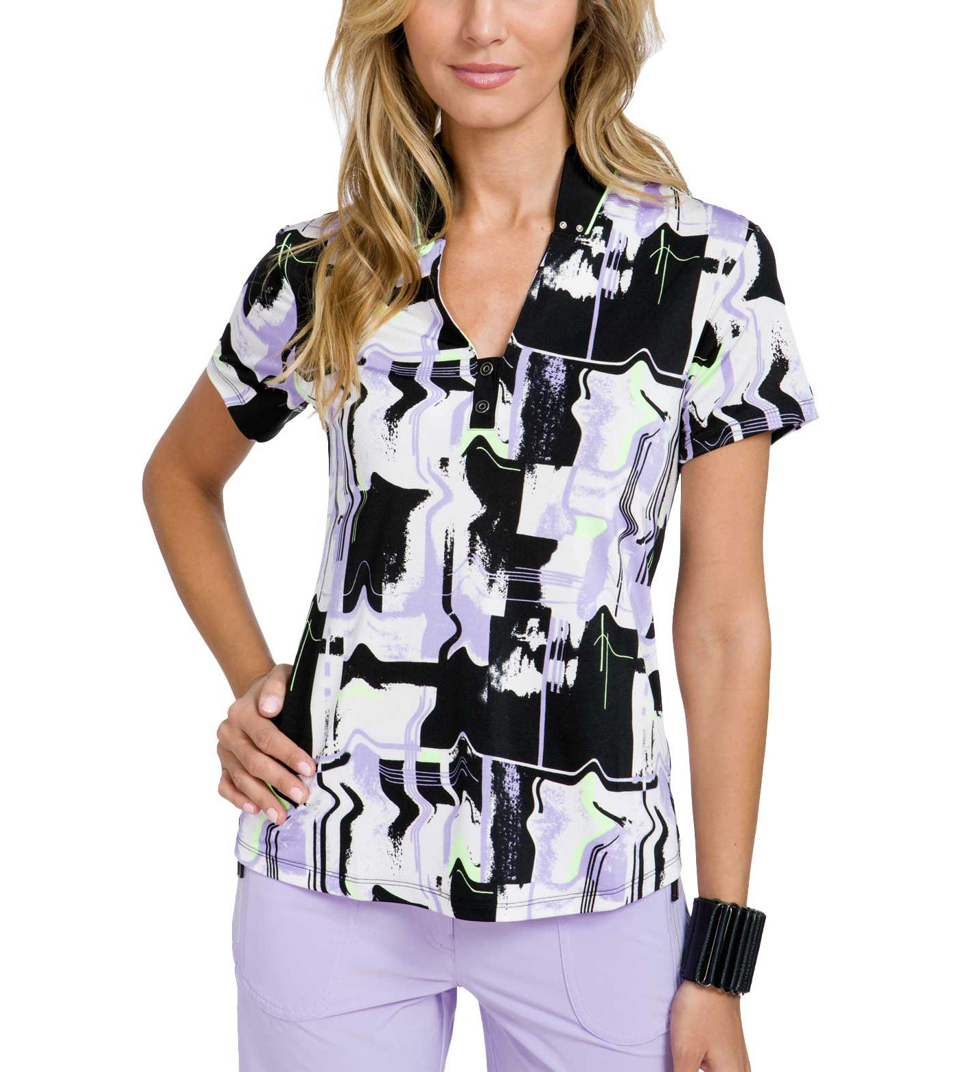Jamie Sadock Women's Liquid Plaid Golf Top