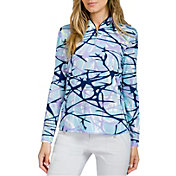 Jamie Sadock Women's Long Sleeve ¼ Zip Golf Top