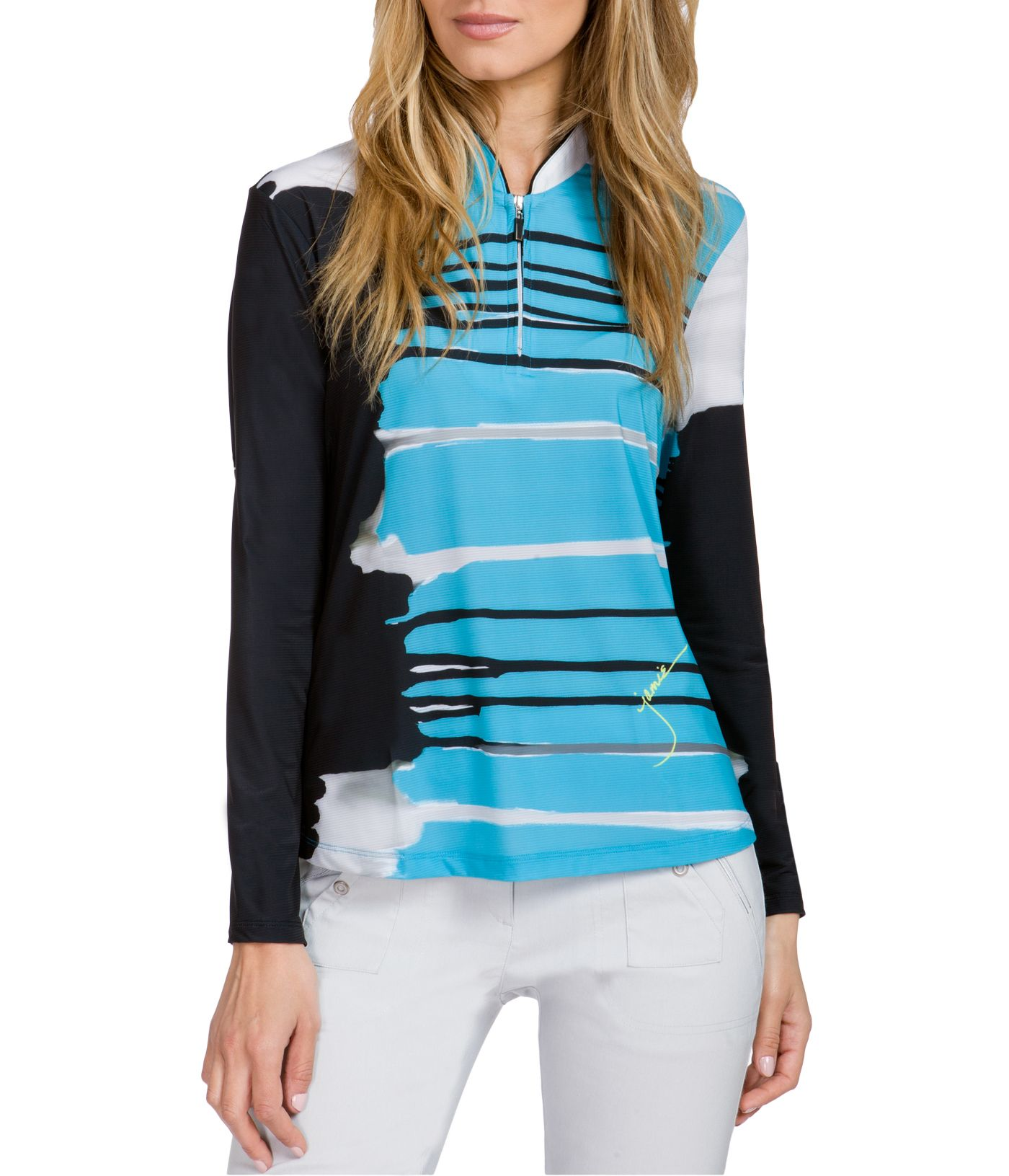 Jamie Sadock Women's Sunsense Canyon Print Long Sleeve Golf Polo