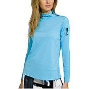 Jamie Sadock Women's Mock Neck Golf Pullover