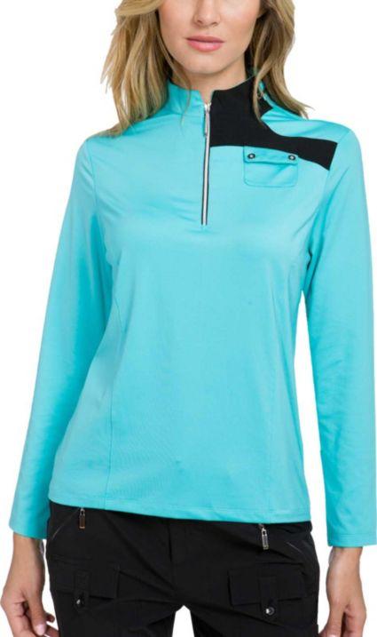 Jamie Sadock Women's Color Block ¼-Zip Long Sleeve Golf Top
