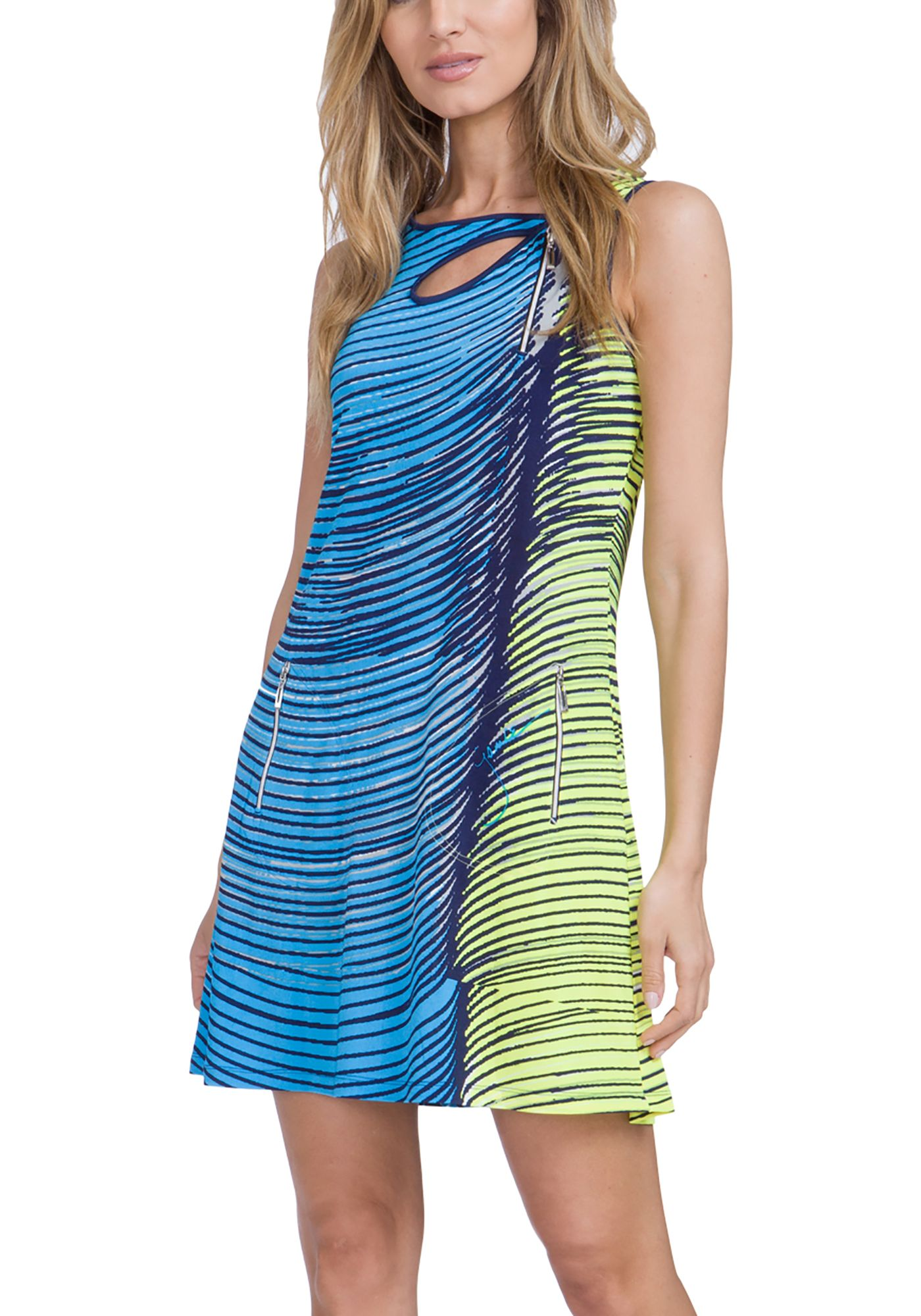 Jamie Sadock Women's Wave Print Sleeveless Golf Dress