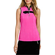 Jamie Sadock Women's Sleeveless ¼ Zip Crunch Golf Top
