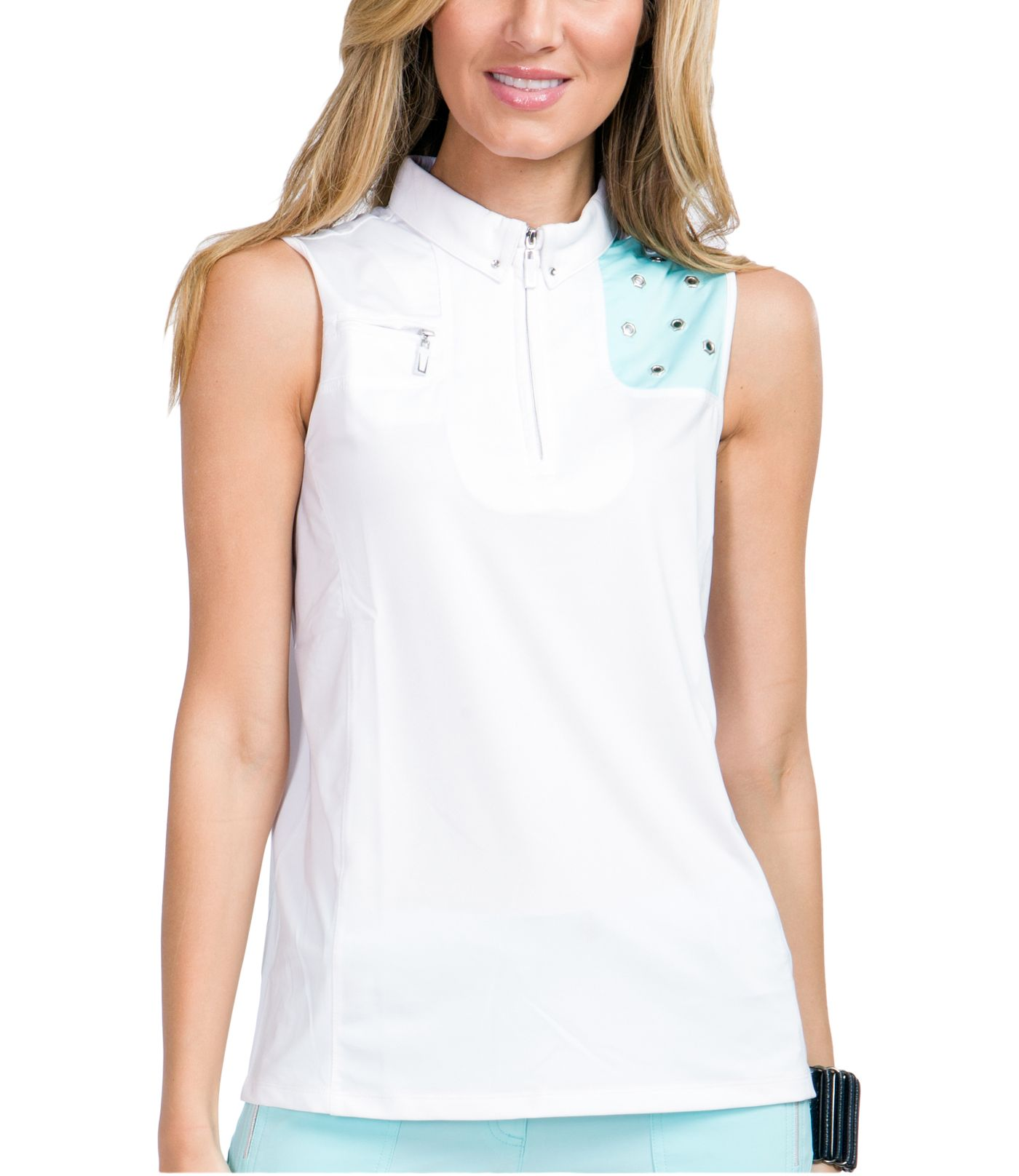 Jamie Sadock Women's Color Block Sleeveless Golf Top