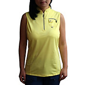 Jamie Sadock Women's Solid ¼ Zip Sleeveless Golf Top