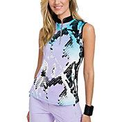 Jamie Sadock Women's Boa ¼-Zip Sleeveless Golf Top