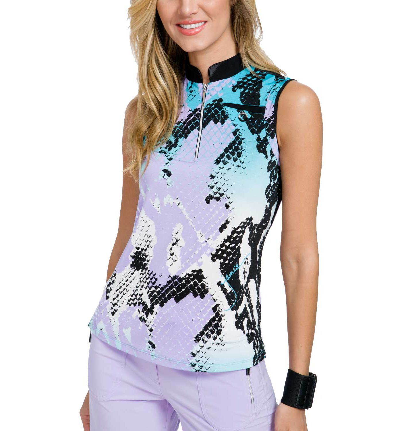Jamie Sadock Women's Boa ¼-Zip Sleeveless Golf Top