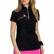 Jamie Sadock Women's Short Sleeve Crunch Crinkle Golf Top