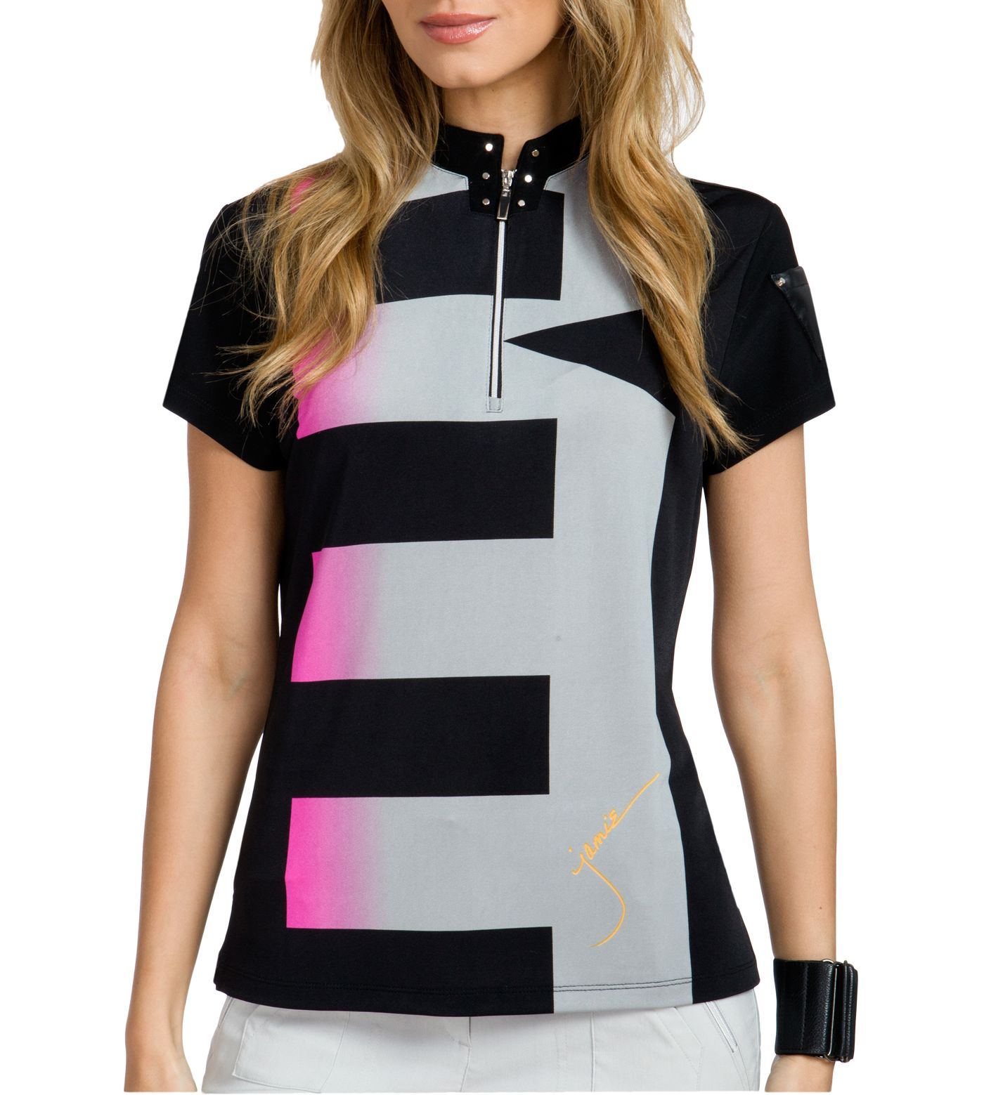 Jamie Sadock Women's Luminous Short Sleeve Golf Top