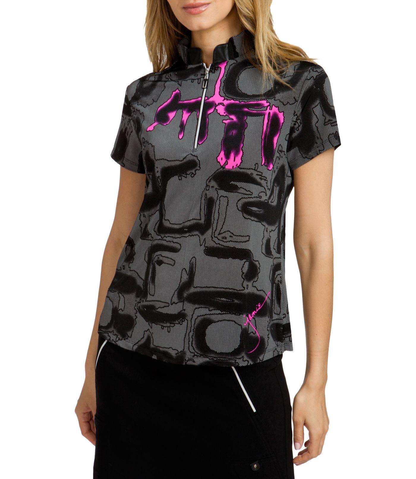 Jamie Sadock Women's Short Sleeve Shadow Golf Top