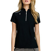 Jamie Sadock Women's Zipper-Tooth Mock Neck Golf Polo