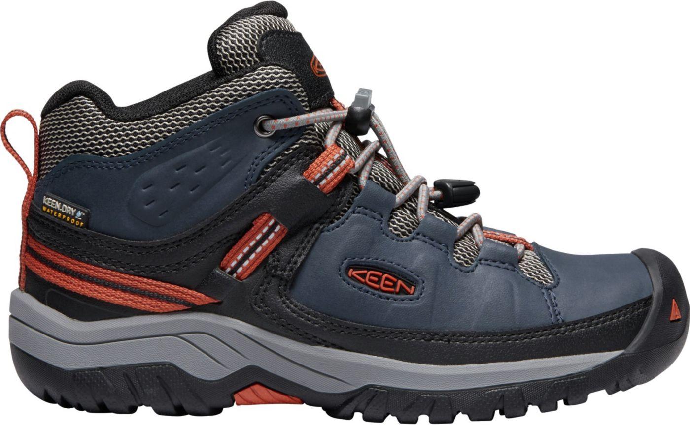 KEEN Kids' Targhee Mid Waterproof Hiking Boots