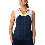 SwingDish Women's Savannah Printed Sleeveless Golf Polo