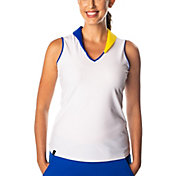 SwingDish Women's Presley Sleeveless Golf Polo