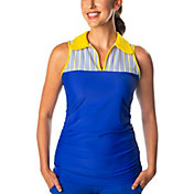 SwingDish Women's Melissa Keyhole Sleeveless Golf Polo