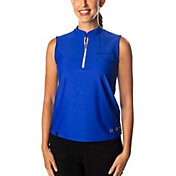 SwingDish Women's Polly Sleeveless Golf Polo